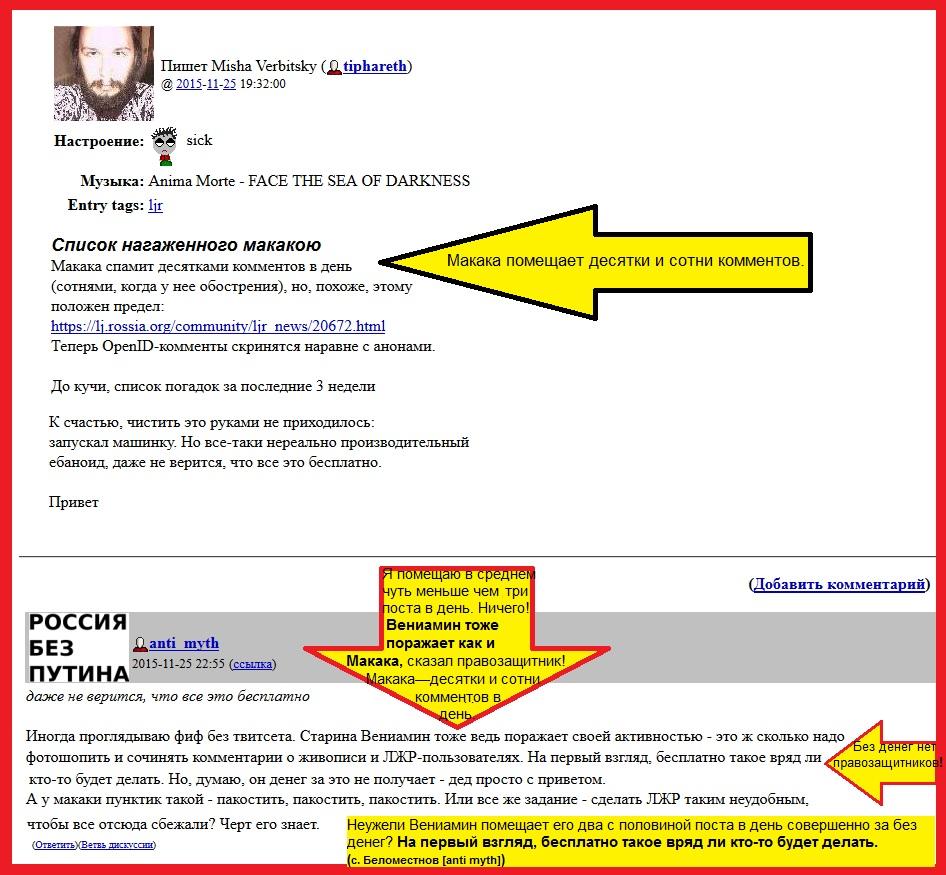 Беломестнов—провокатор и сексот, пост, правозащитник, Макака.