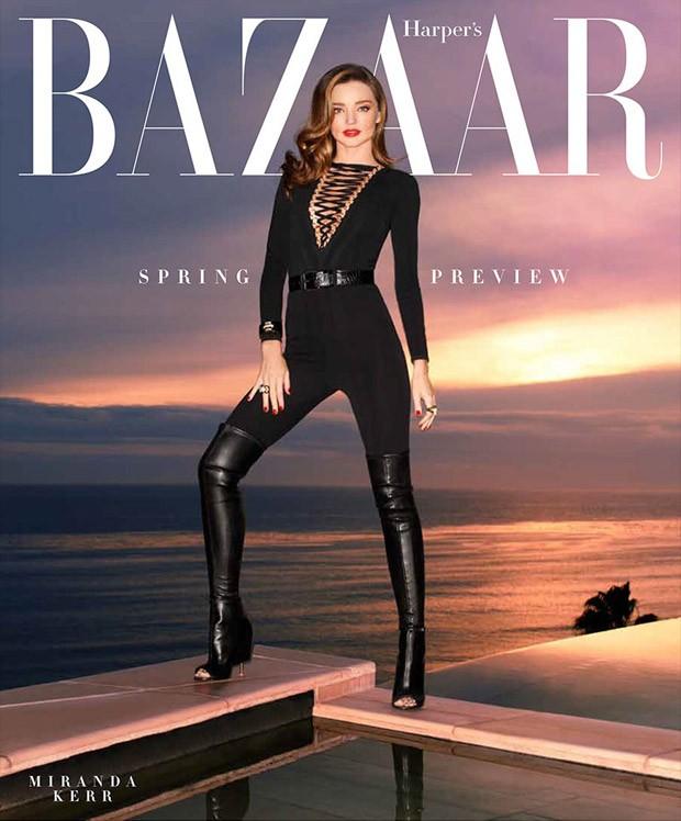 Миранда Керр (Miranda Kerr) в журнале Harper's Bazaar US