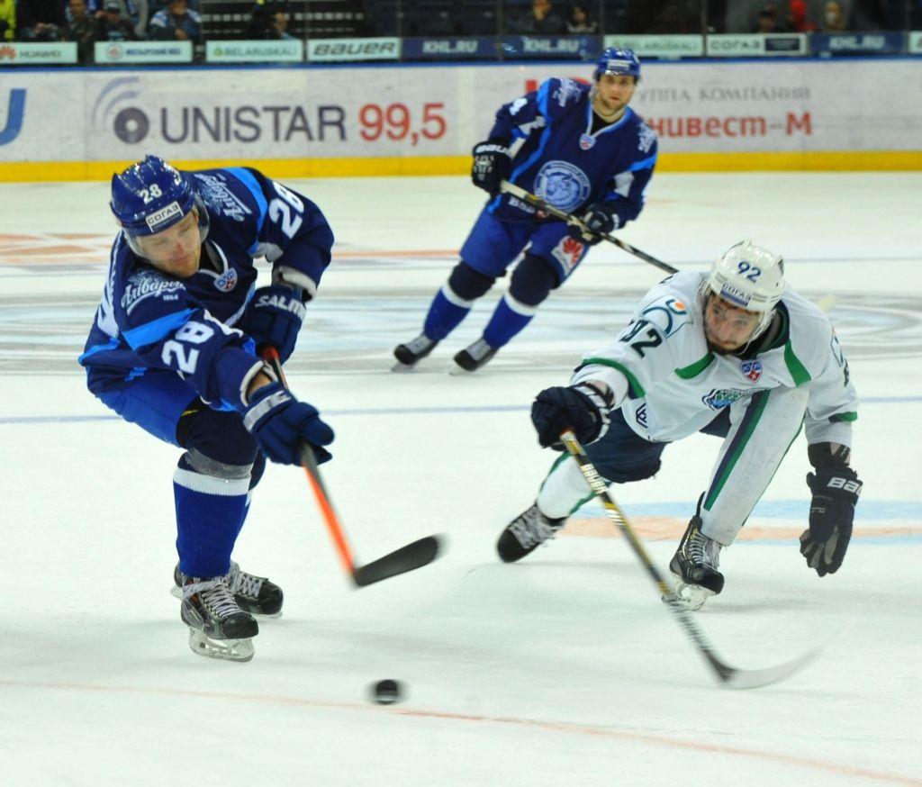 Хоккеисты минского «Динамо» потерпели 3-е  поражение подряд вКонтинентальной хоккейной лиге