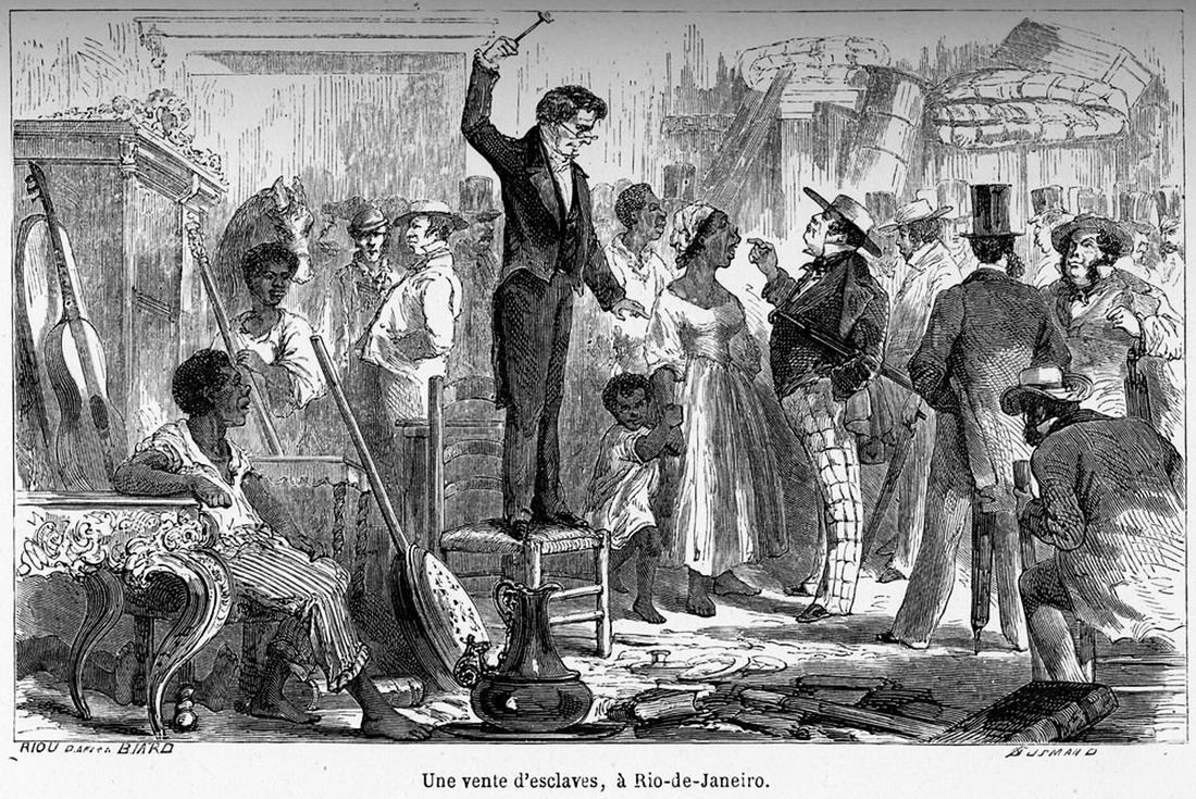 На аукционе по продаже рабов в Рио-де-Жанейро (1862 год)