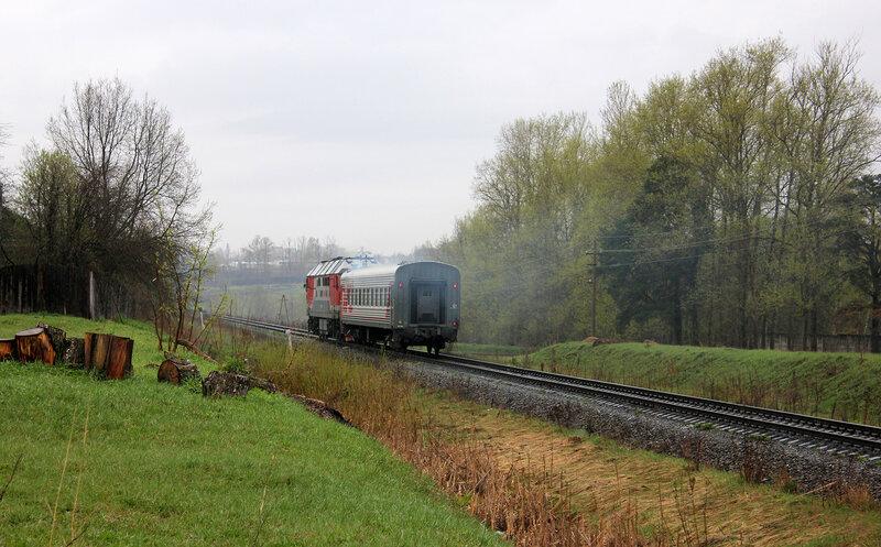 ТЭП70-0278 с пригородным Ржев - Торжок на перегоне Мелихово - Ржев-Белорусский