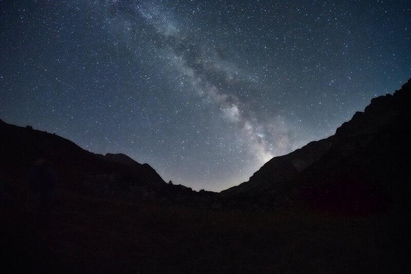 Млечный путь над озером Псенодах.