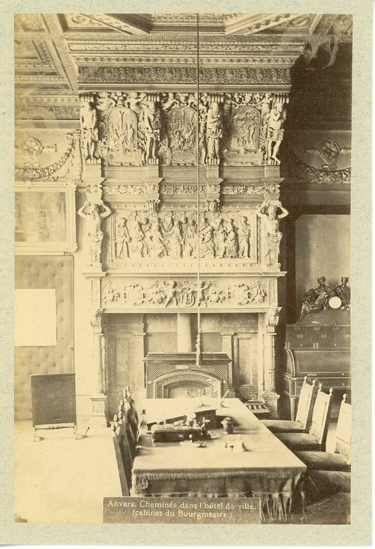 1880. Камин в мэрии