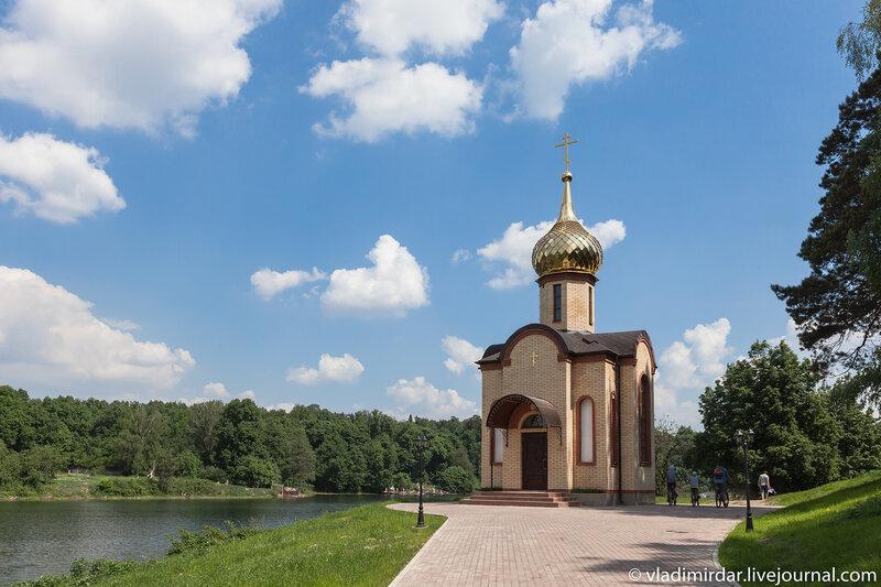 Часовня Сергия Радонежского на берегу Большого Сухановского пруда