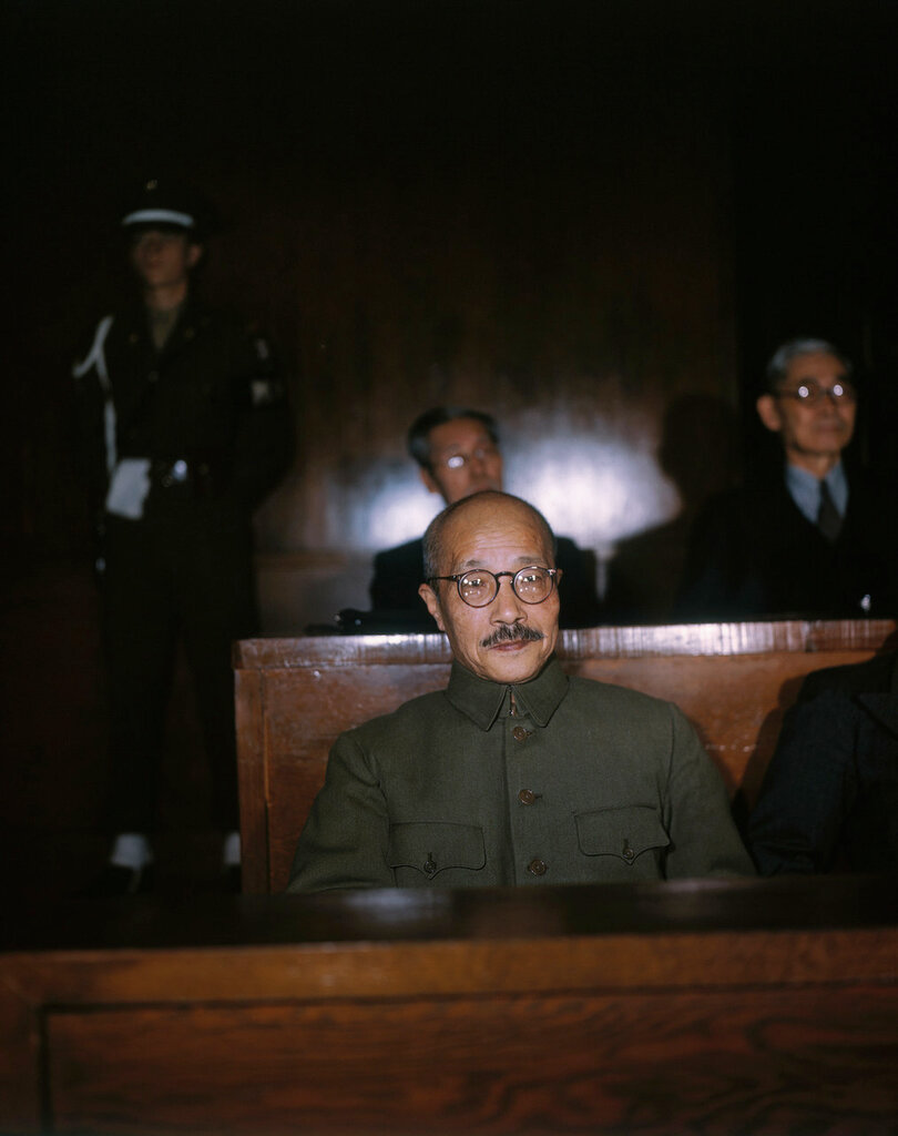 Portrait of Hideki Tojo in Court
