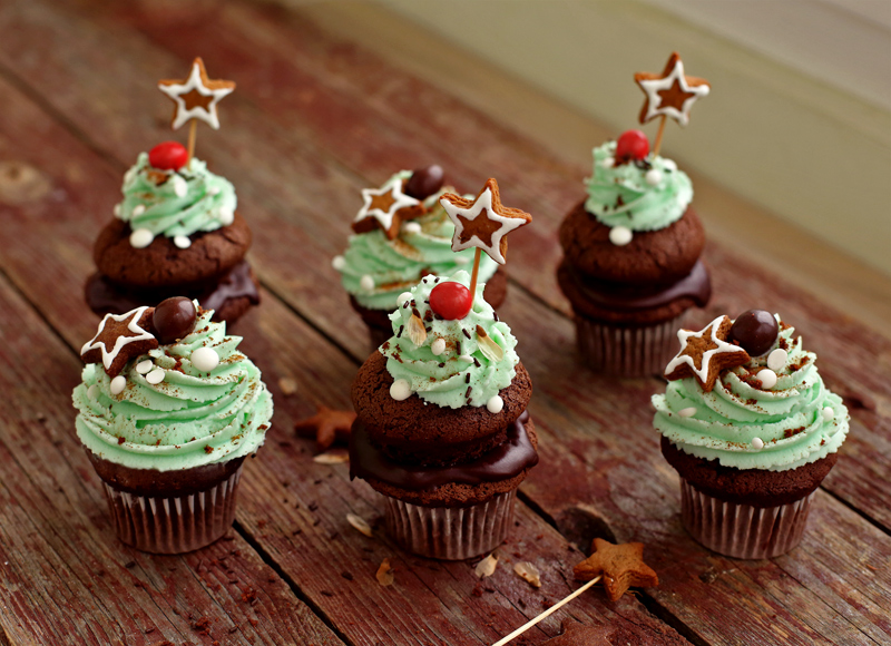 Шоколадные капкейки - пошаговый рецепт с фото #3.