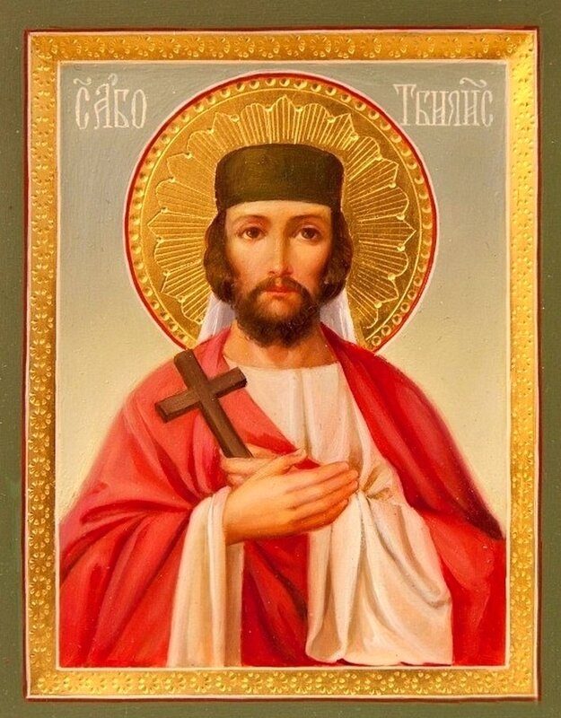 Святой мученик Або Тбилисский (Або Тбилели). Иконописная мастерская Екатерины Ильинской.