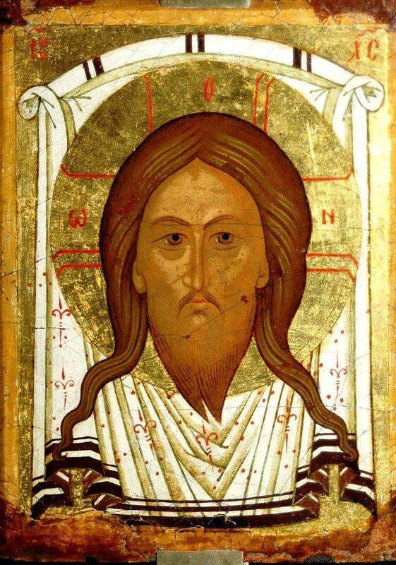 Спас Нерукотворный. Икона. Новгород, конец XV века.