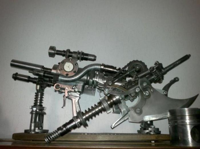 Что можно смастерить из старых автозапчастей (фото)