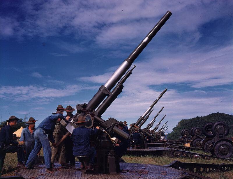 San Juan, Puerto Rico, Camp Buchanan, guns, 1939