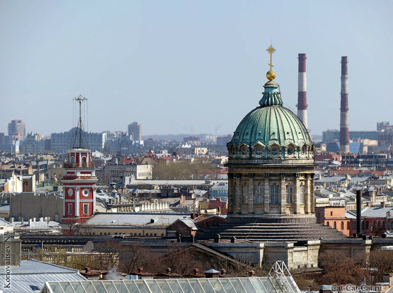 Сигнальная башня здания Городской думы, Кафедральный собор Казанской иконы Божией Матери