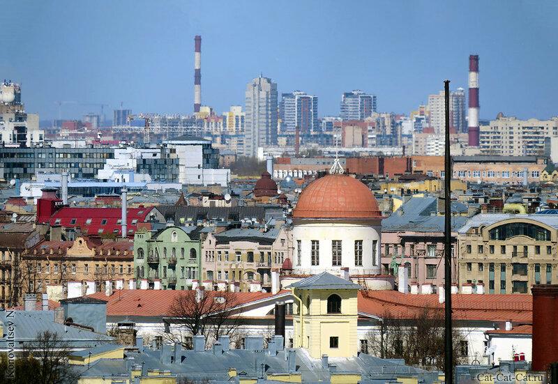 Санкт-Петербург, вид с высоты