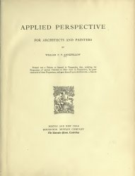 Книга Applied perspective, for architects and painters