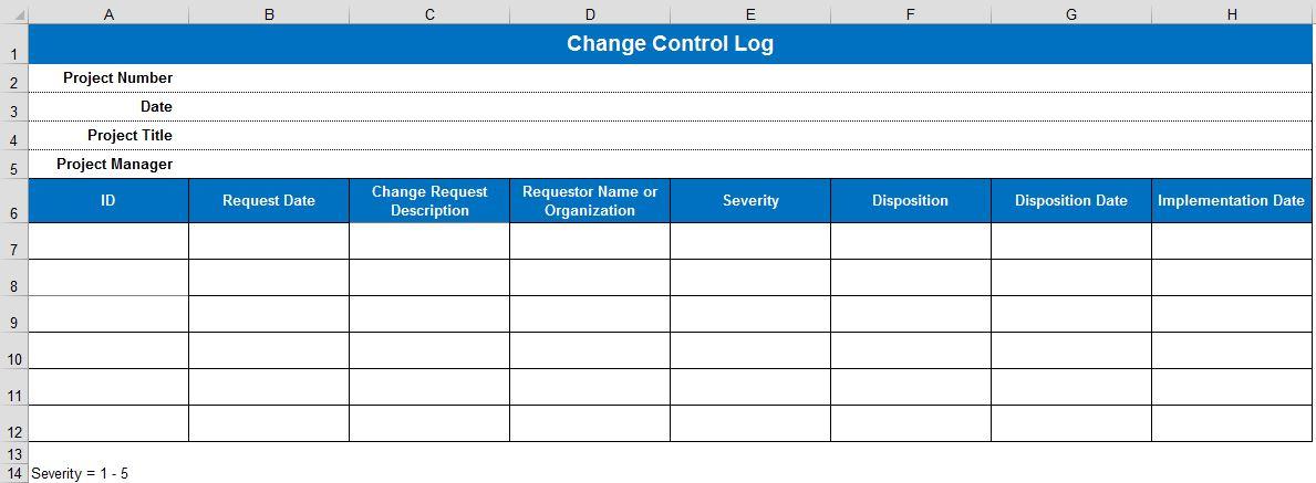 Рис. 2. Журнал контроля изменений