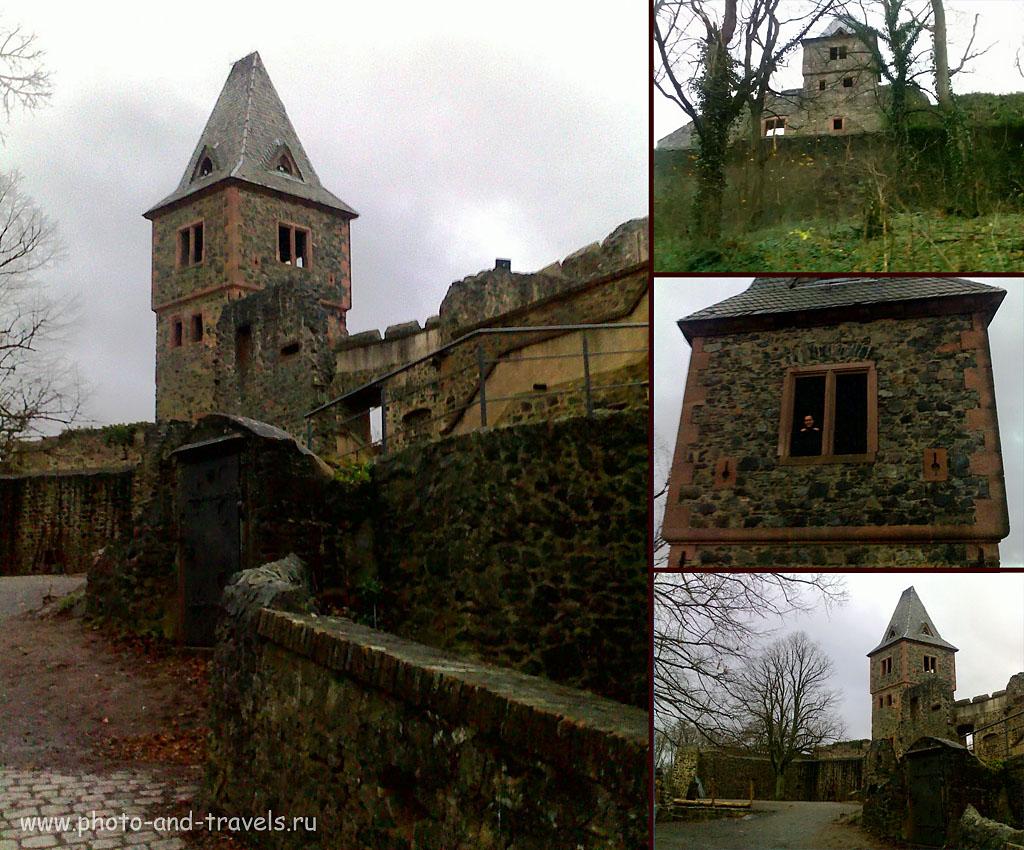 Замок Франкенштейна (по-немецки, SchlossFrankenstein). Сюда можно заехать по пути из Франкфурта в Ротенбург-об-дер-Таубер. Снято на смартфон Nokia E71, ФР=3,9 мм, f/3.2, вспышка сработала)