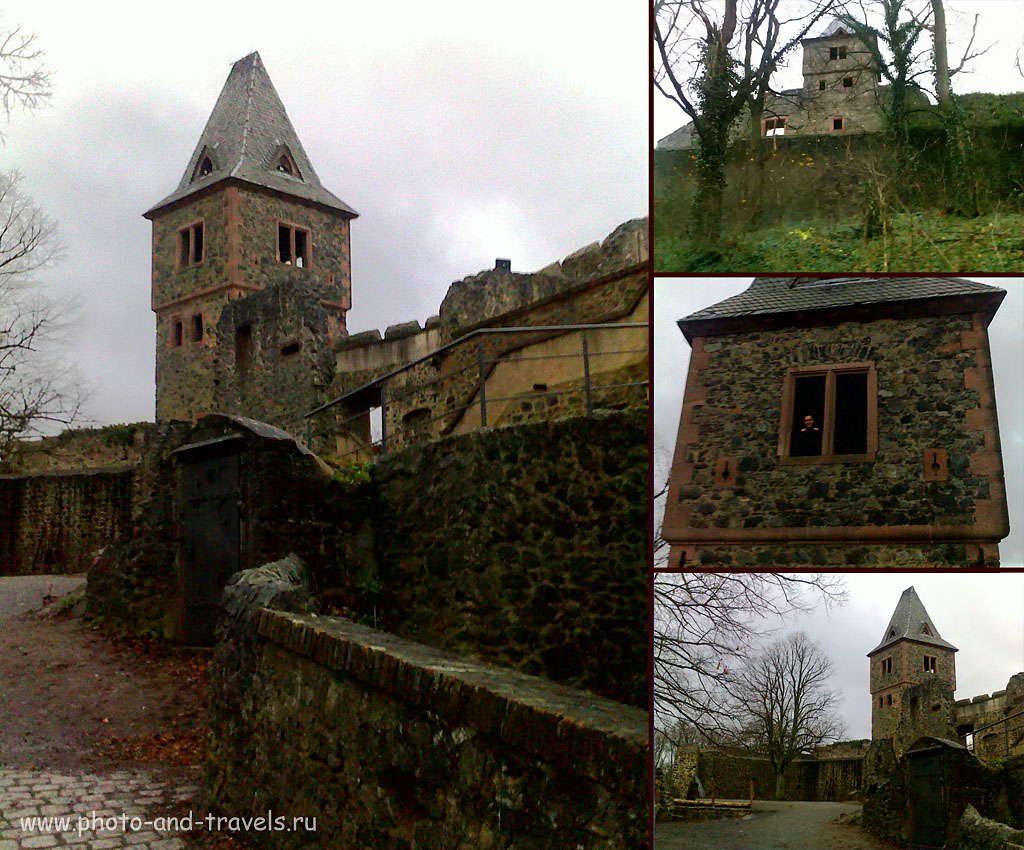 Замок Франкенштейна (по-немецки, SchlossFrankenstein). Снято на смартфон Nokia E71, ФР=3,9 мм, f/3.2, вспышка сработала)