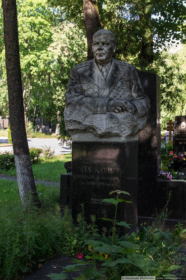 Пухов Николай Павлович - могила на Новодевичьем кладбище
