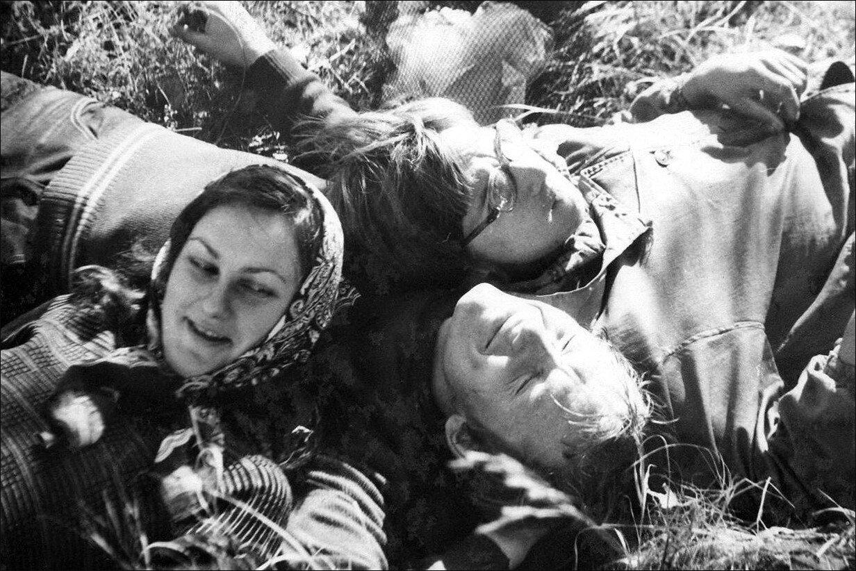 1978. Студенты ОмПИ на уборочной