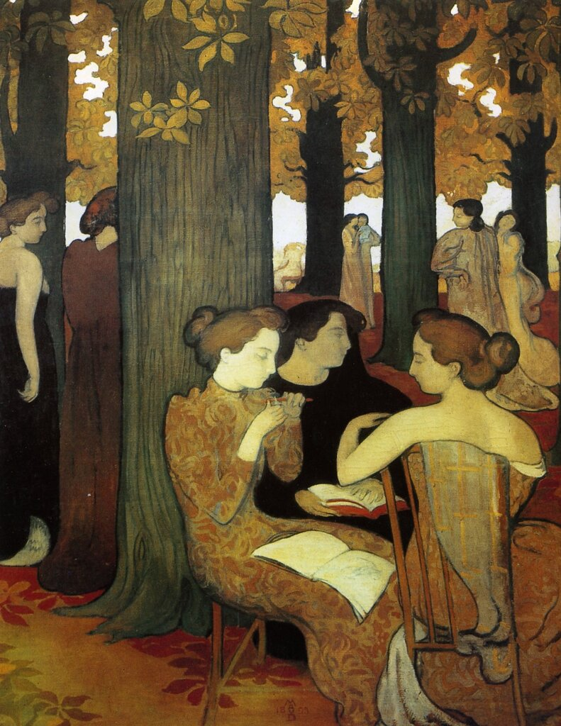 083[amolenuvolette.it]1893 maurice denis, les muses au bois sacr%E9 muses with crowned wood.jpg