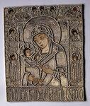 Богоматерь Одигитрия Гребневская с Ветхозаветной Троицей святыми князьями Борисом и Глебом