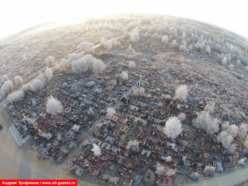 Новое кладбище Сергиева Посада. Вид сверху