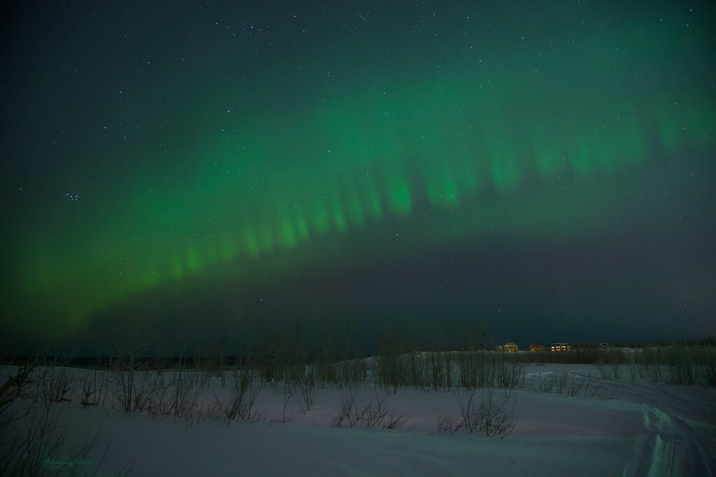 Северное с 17 на 18 февраля 2015. р.Коми г.Ухта.