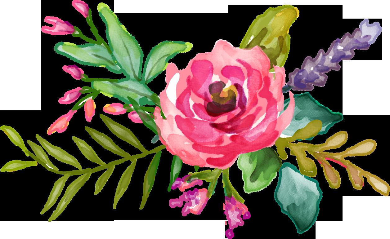 Нарисованные цветы png