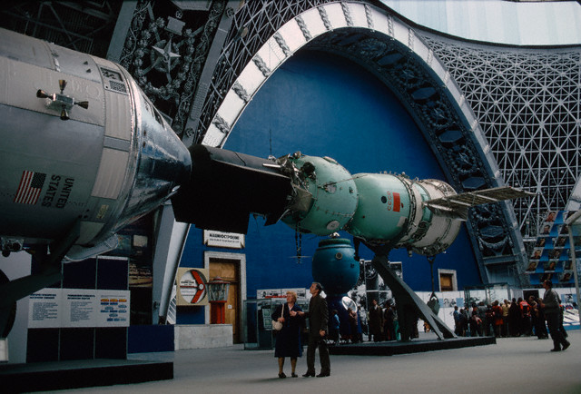 Apollo and Soyuz Capsules in Moscow