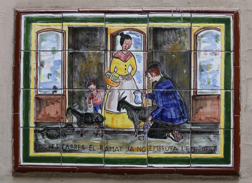 Барелона. Керамические панно улицы Петритксол (Calle Petritxol)