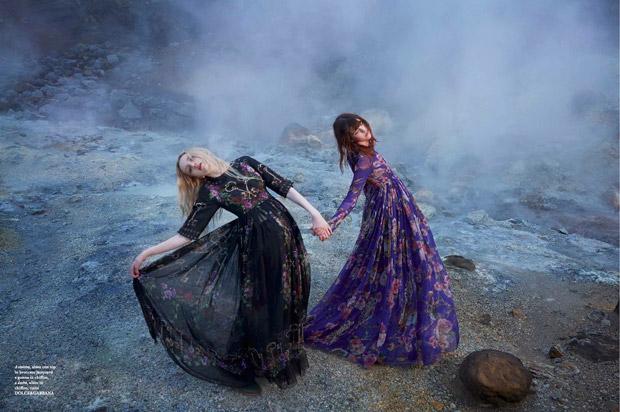 Эсмеральда Сэй-Рейнольдс (Esmeralda Seay-Reynolds) и Меган Коллисон (Meghan Collison) в журнале Flair