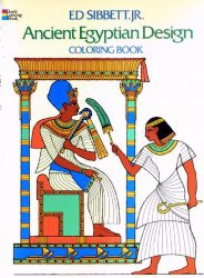 Книга Ancient Egyptian Design Coloring Book (Dover Pictorial Archive)
