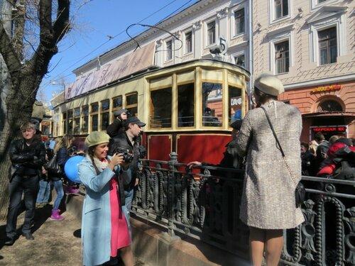Старый трамвай.