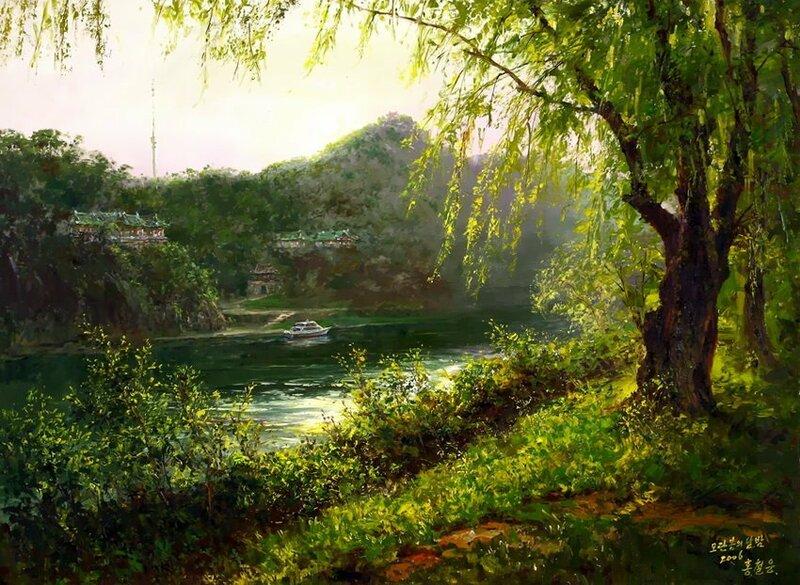 Проникновенье весеннего света. Художник Hong Сheolung