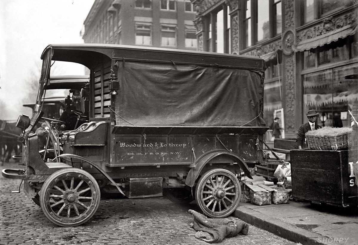 Специализированные транспортные средства начала 20-го века на снимках американских фотографов (8)