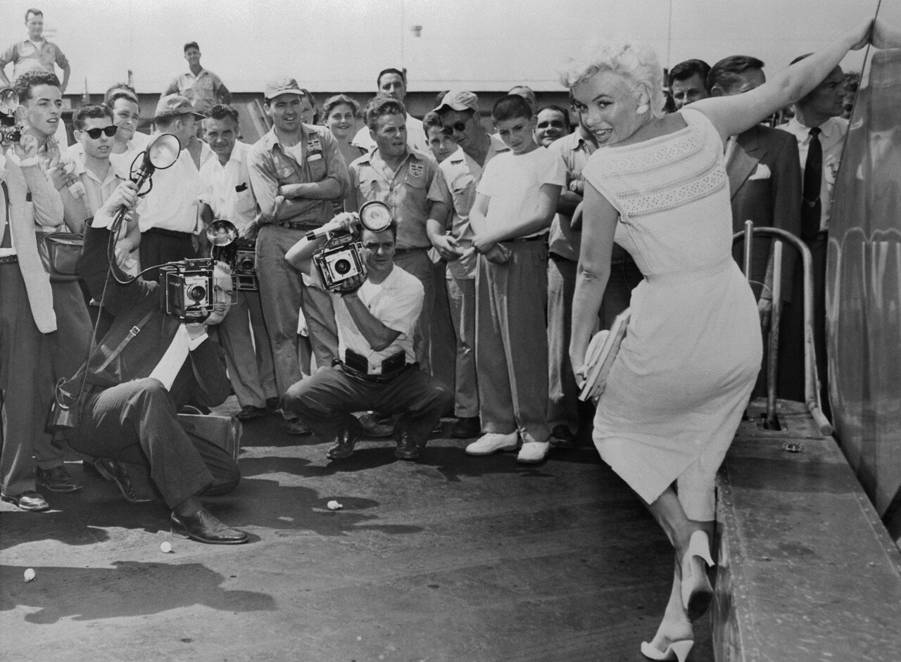 Marilyn Monroe Posing with One Arm Extended