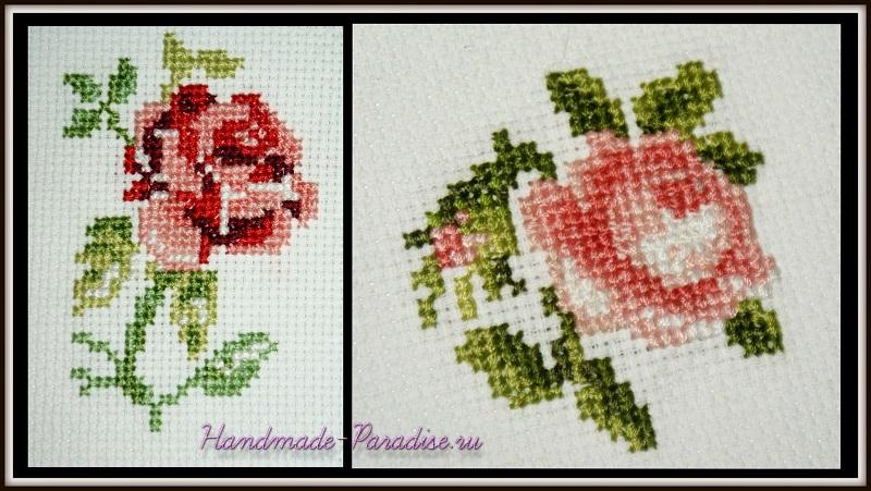 Роза вышивка наклейка