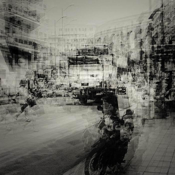 Городские пейзажи в мультиэкспозиции. Фотограф Stephanie Jung / Стефани Юнг