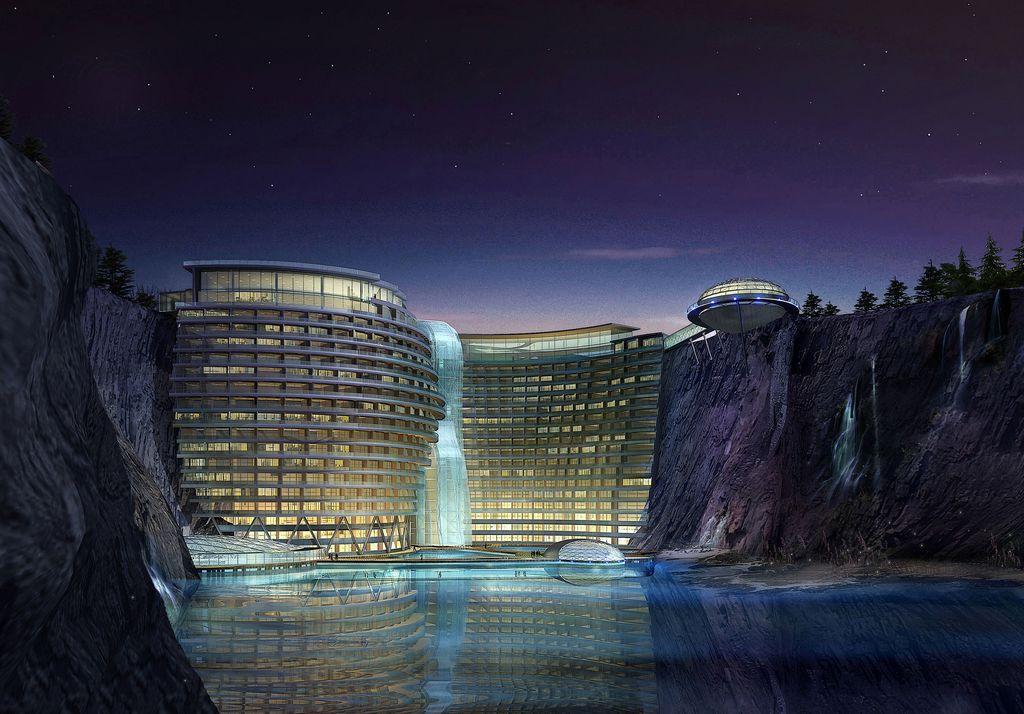 1. Shimao Wonderland InterContinental — отель в карьере На территории одного из заброшенных карьеров