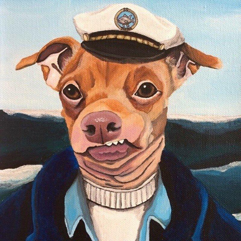 Собака с неправильным прикусом по кличке Туна