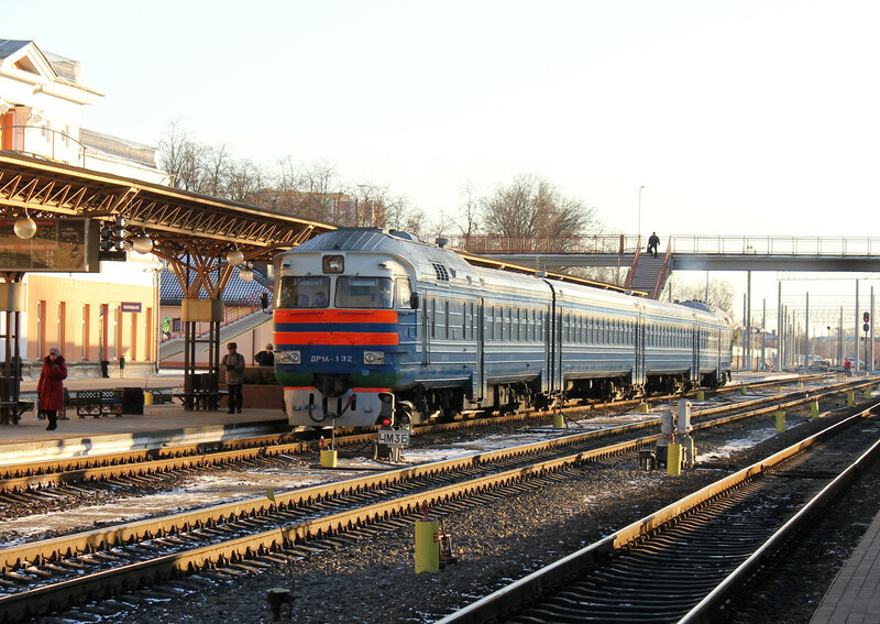ДР1А-132 на станции Гомель