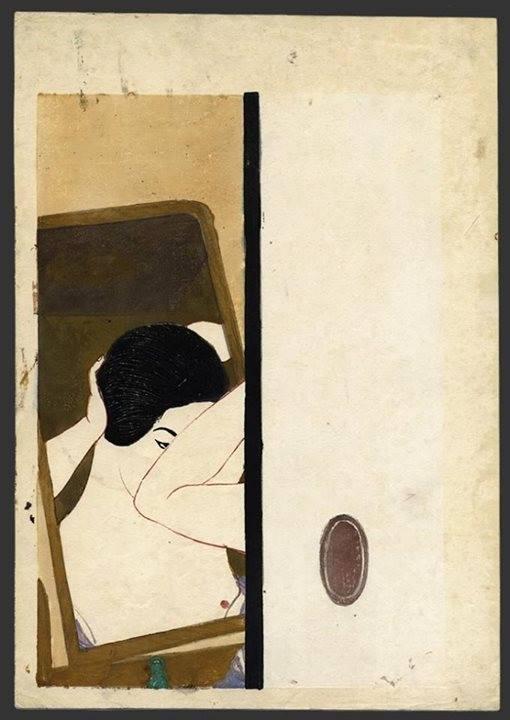 Kōshirō Onchi (恩地 孝四郎, Onchi Kōshirō, Japanese, 1891 – 1955). Mirror. 1930.jpg
