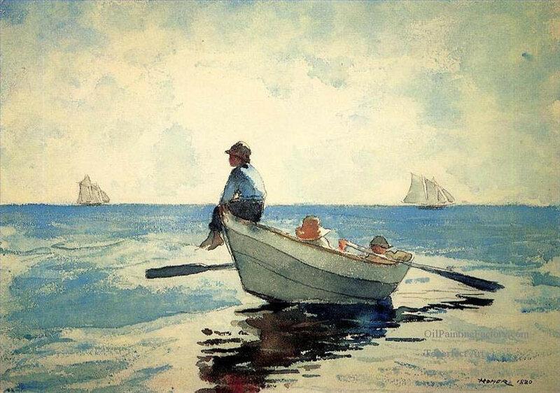 Видишь себя нарисованной в лодке на берегу