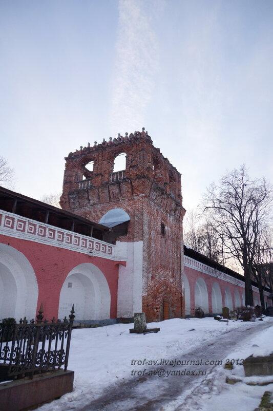 Южная стена, Донской монастырь, Москва