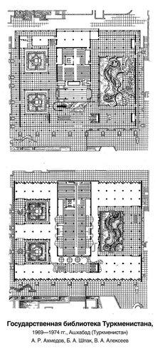 Библиотека им. К. Маркса в Ашхабаде, планы