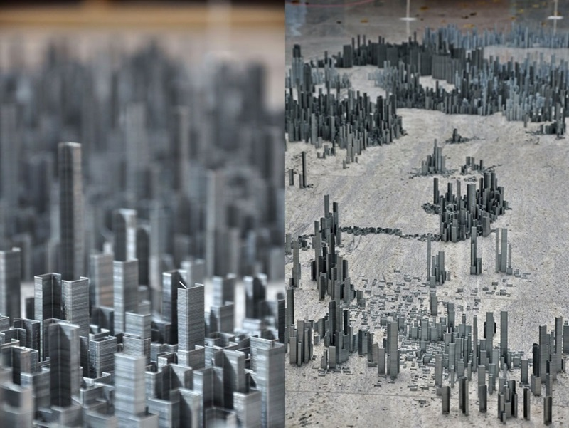 Питер Рут делает города из скоб для степлера