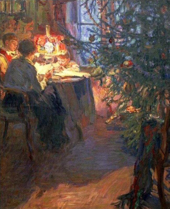 """Александр Моравов """"Рождественская ёлка"""", 1921"""