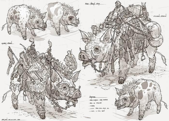 Концепт-дизайнер Feng Zhu.  Великолепный Digital Art. 55 работ