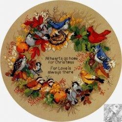 Журнал Dimensions 08413 - Birds Wreath