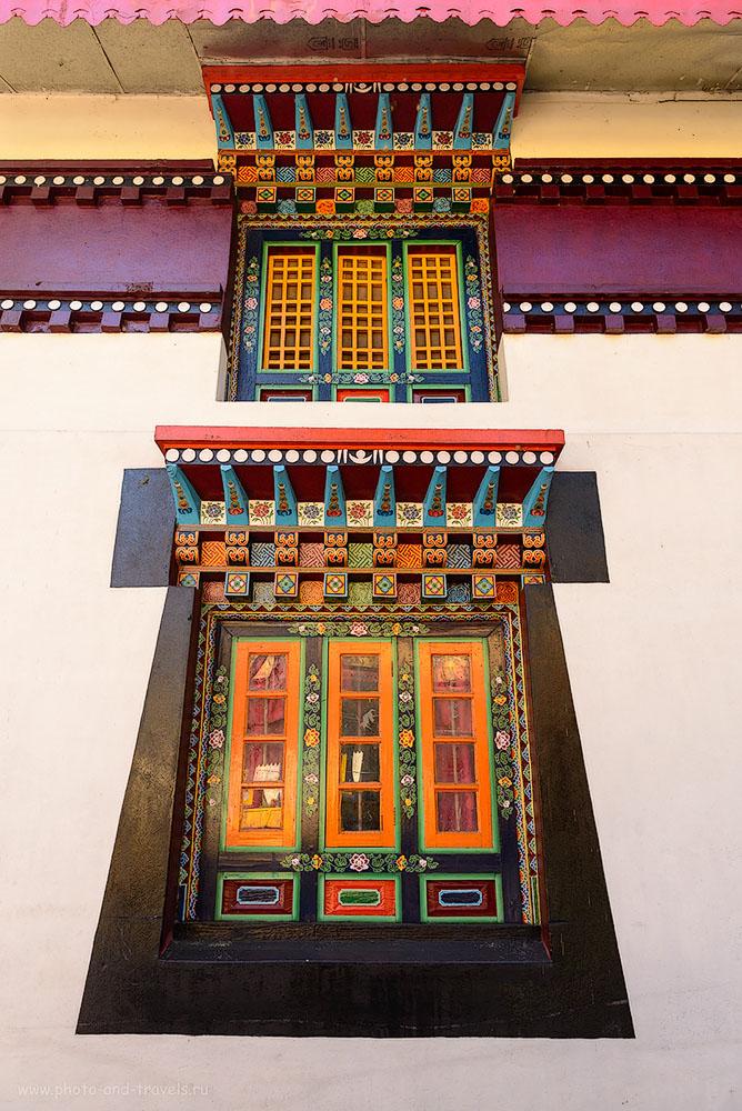 Наличники в тибетском храме