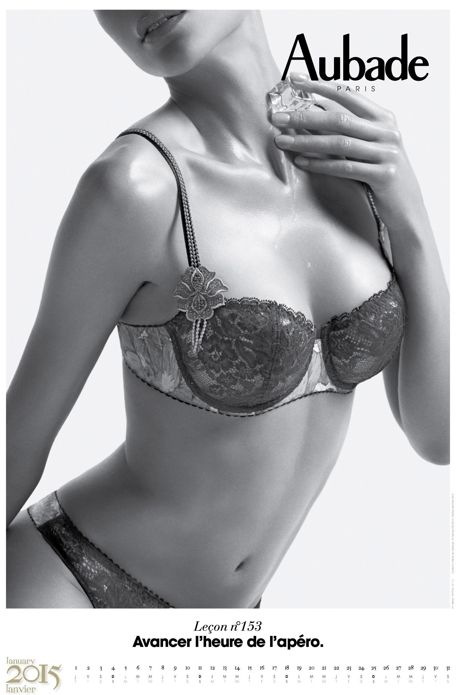 Календарь сексуального нижнего белья Aubade 2015
